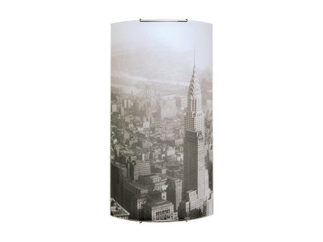 Kinkiet szklany Impressions 3xE27 60W 4070304M biały, szary Spot-light