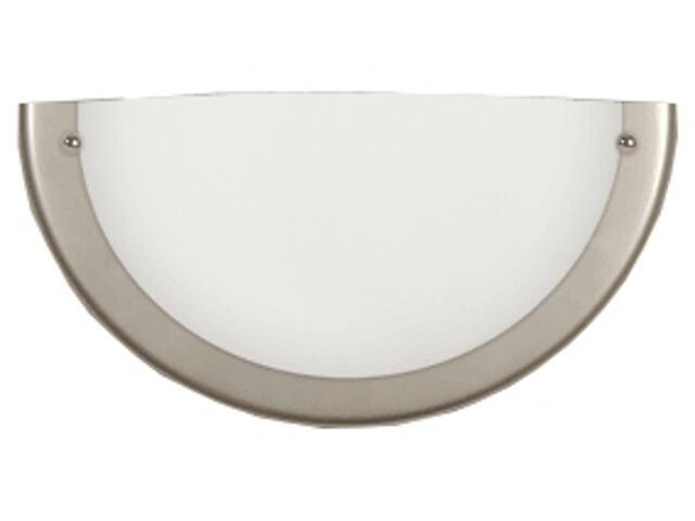 Półplafon 30K z białym matowym kloszem srebrny Brilum