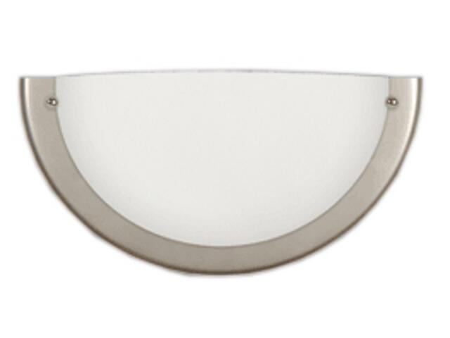Półplafon 25K z białym matowym kloszem chrom satyna Brilum