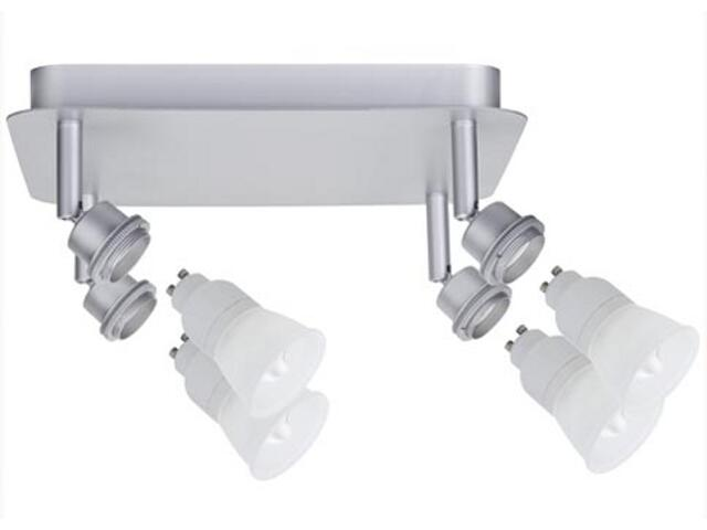 Plafon DecoSystems ESL 4x7W GU10 aluminium mat Paulmann