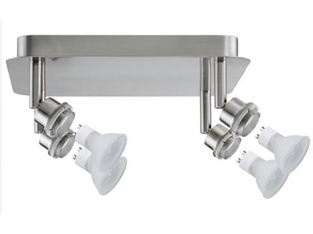 Lampa sufitowa DecoSystem 4x40W GZ10 230V żelazo satynowe metal Paulmann