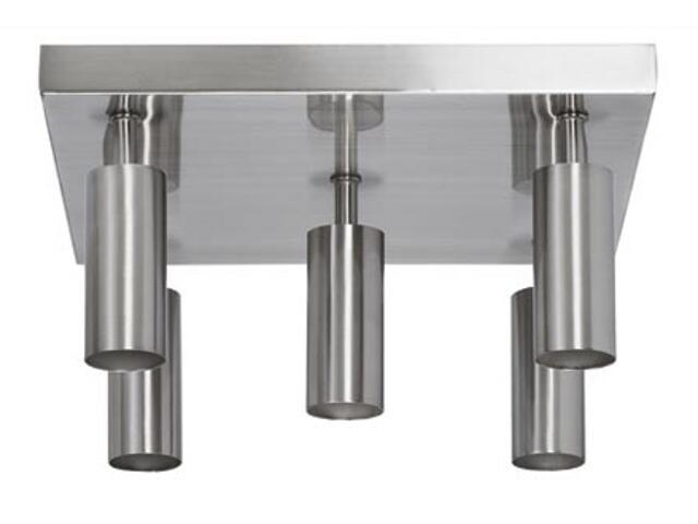 Plafon Combi max.5x60W E27 żelazo satynowe Paulmann