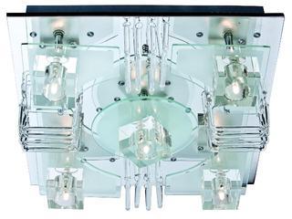 Plafon Halifax 5xG9 40W + 48 LED 63760506 Reality