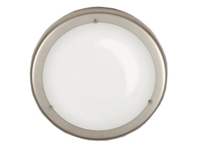 Plafon 25 z białym matowym kloszem srebrny Brilum
