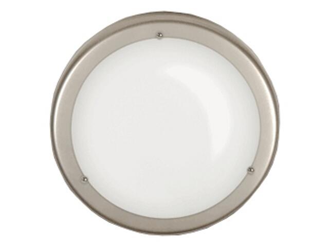 Plafon 30 z białym matowym kloszem srebrny Brilum