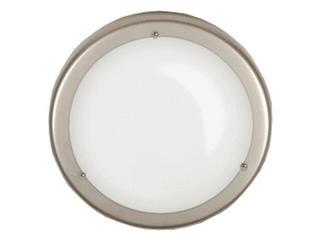 Plafon 30 z białym matowym kloszem biały Brilum