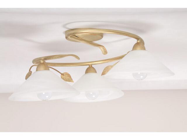 Lampa sufitowa Wika koło złota 3xE27 01805 Sigma