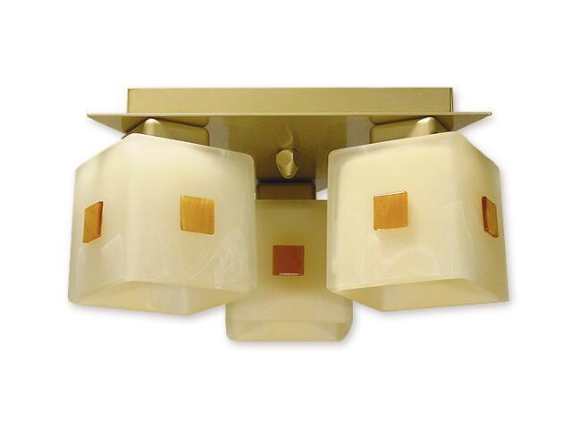 Lampa sufitowa Echo 3-płomienna złota O1193/W3 ZŁ Lemir
