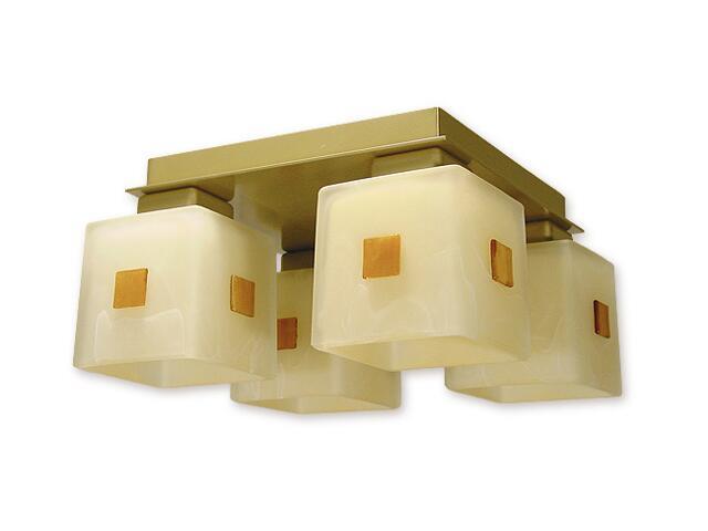 Lampa sufitowa Echo 4-płomienna złota O1194/W4 ZŁ Lemir