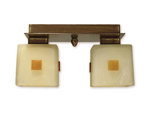 Lampa sufitowa Echo 2-płomienna brązowa O1192/W2 BR Lemir