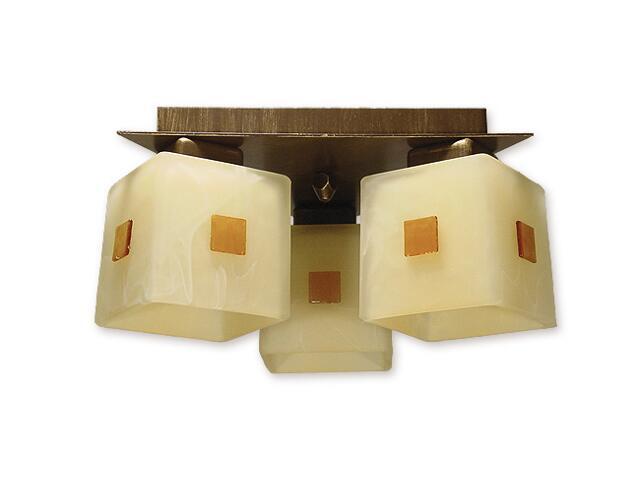 Lampa sufitowa Echo 3-płomienna brązowa O1193/W3 BR Lemir