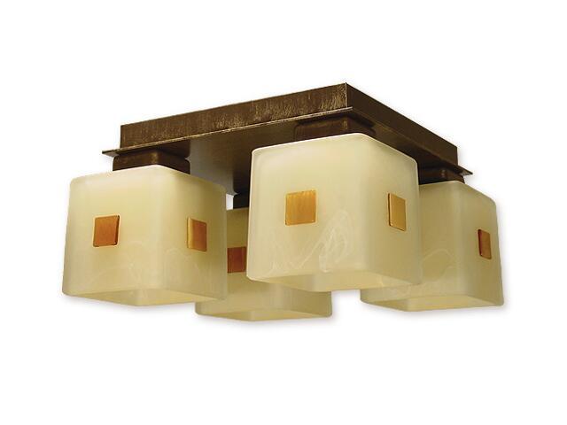 Lampa sufitowa Echo 4-płomienna brązowa O1194/W4 BR Lemir