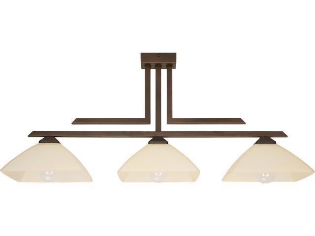 Lampa wisząca Kent 3xE27 brązowa 07212 Sigma