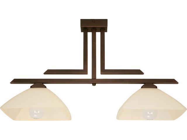 Lampa wisząca Kent 2xE27 brązowa 07214 Sigma