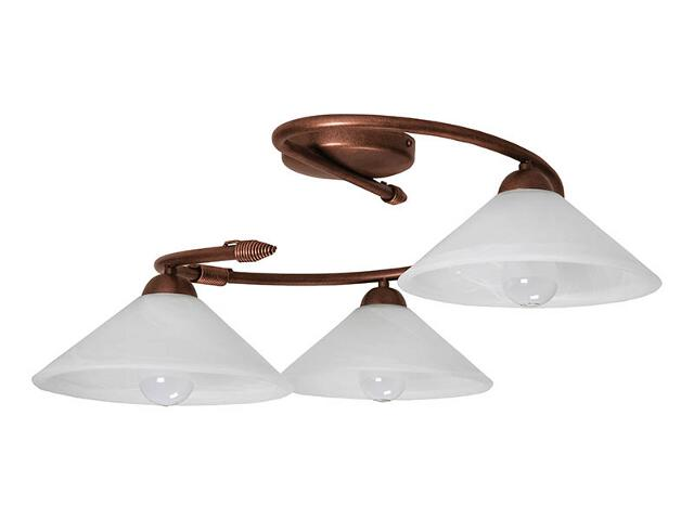 Lampa sufitowa Deco miedziana 3xE27 05127 Sigma