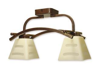 Lampa sufitowa Dipol 2-płomienna brązowa O1412P BR Lemir