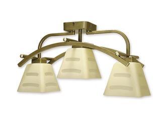 Lampa sufitowa Dipol 3-płomienna oliwka metalik O1413P OLM Lemir