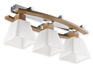 Lampa sufitowa Dreno 3-płomienna chrom dąb O1473P DB Lemir