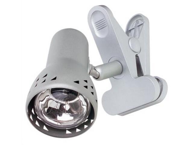 Lampa biurkowa Gryps z klipsem max.1x40W E14 żelazo satynowe Paulmann