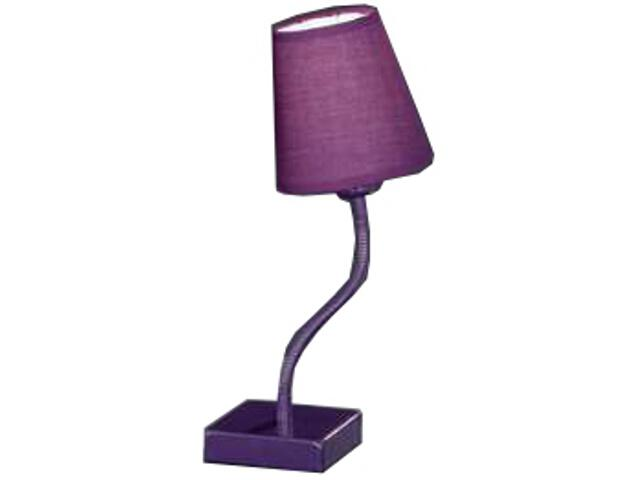 Lampa biurkowa Madelie lila E14 40W R51091092 Reality