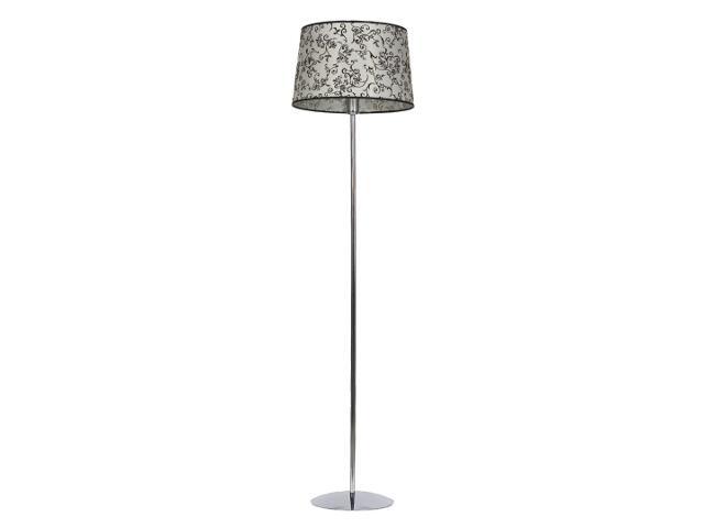 Lampa podłogowa Amsterdam2 1x75W E27 chrom / beż Sanneli Design