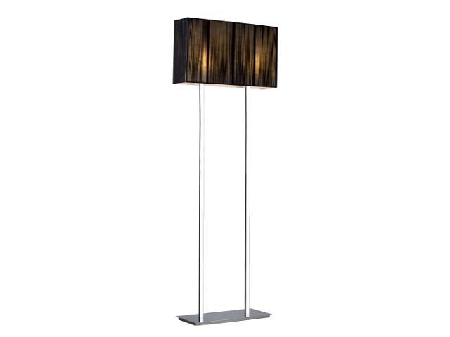 Lampa podłogowa Barcelona2 2x60W E27 czarna Sanneli Design