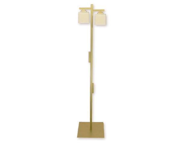 Lampa podłogowa Kostka 2-płomienna złota O1069/L2 ZŁ Lemir