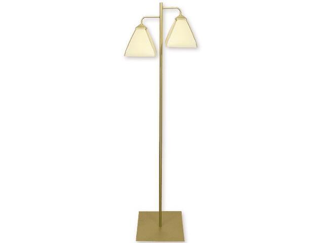 Lampa podłogowa Piksel 2-płomienna złoto 889/L2 ZŁ Lemir