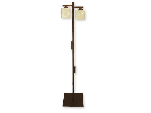Lampa podłogowa Kostka 2-płomienna brązowa O1069/L2 BR Lemir