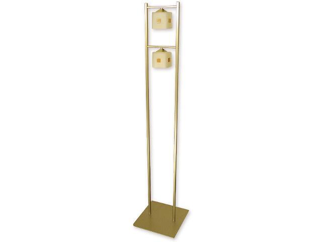 Lampa podłogowa Morfeusz 2-płomienna złota O1189/L2 ZŁ Lemir