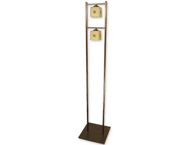 Lampa podłogowa Morfeusz 2-płomienna brązowa O1189/L2 BR Lemir