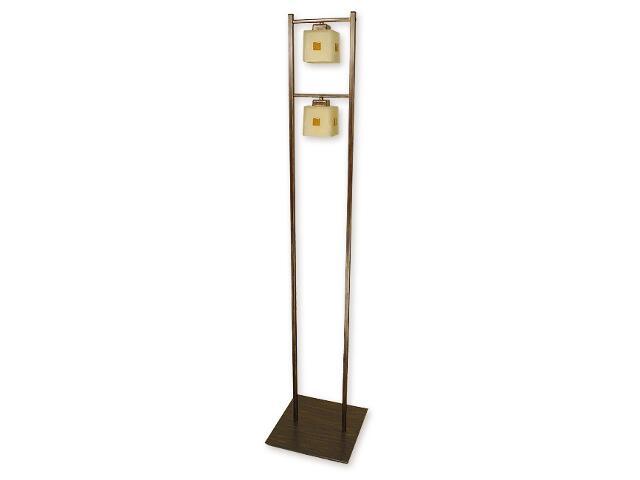Lampa podłogowa Echo 2-płomienna brązowa O1199/L2 BR Lemir