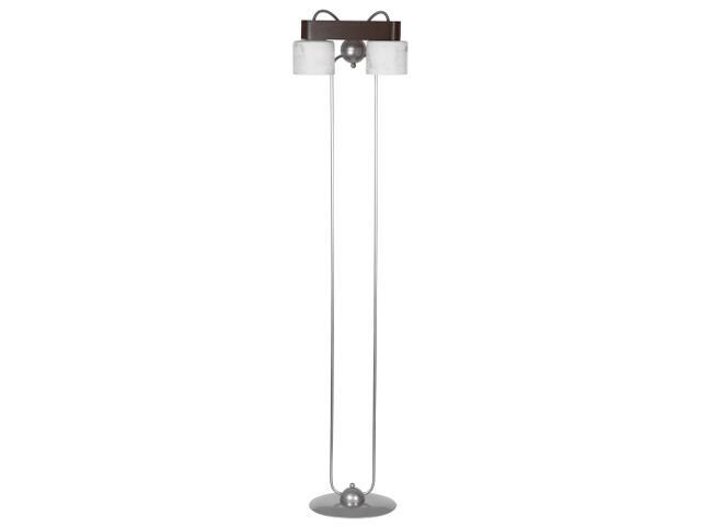Lampa podłogowa Nela wenge srebrna 2xE27 12922 Sigma
