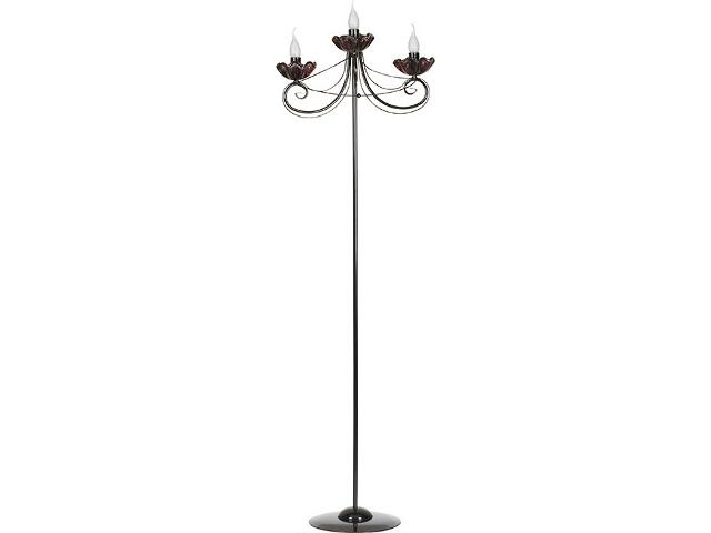 Lampa podłogowa Rosa czarna 3xE14 14314 Sigma