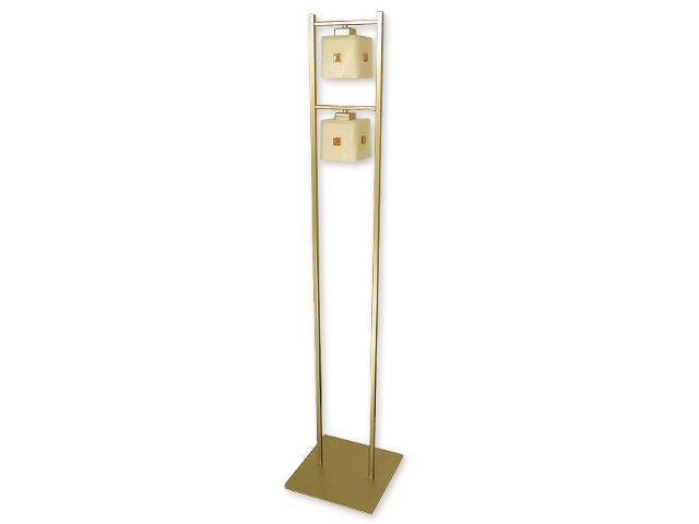 Lampa podłogowa Zeto 2-płomienna złota O1219/L2 ZŁ Lemir