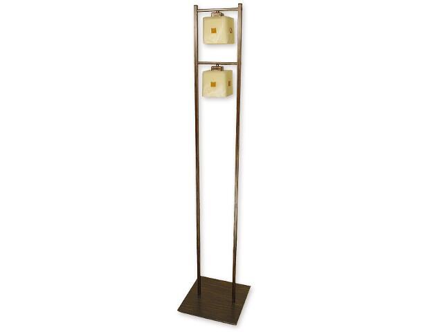 Lampa podłogowa Zeto 2-płomienna brązowa O1219/L2 BR Lemir