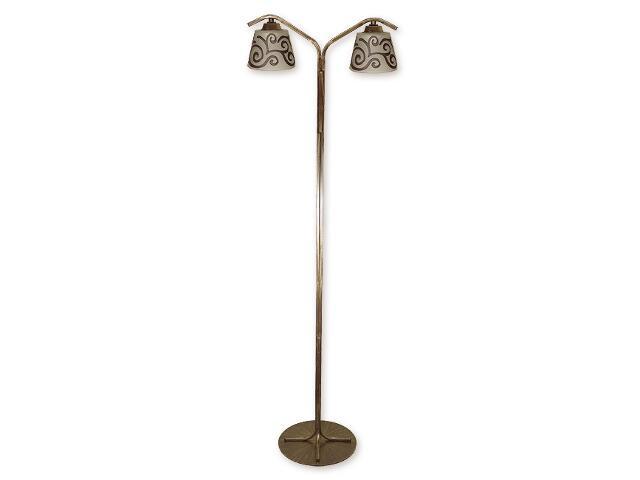 Lampa podłogowa Sofi 2-płomienna brązowa O1259/L2 BR Lemir