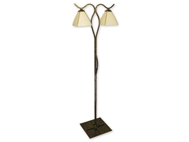 Lampa podłogowa Atos 2-płomienna oliwka złoto O1329/L2 Lemir