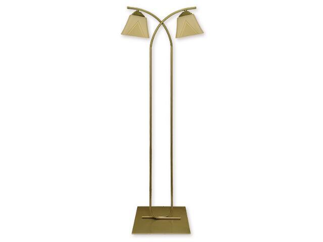 Lampa podłogowa Lori 2-płomienna oliwka metalik O1409 OLM Lemir