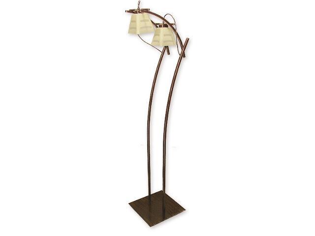 Lampa podłogowa Dipol 2-płomienna brązowa O1419 BR Lemir