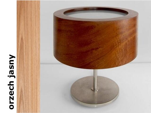 Lampa stołowa LUKOMIKO wysoka orzech jasny 8692A1210 Cleoni
