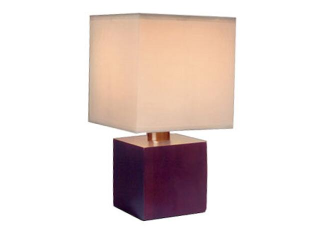 Lampa stołowa Asta max. 1x40W brązowo-biała Paulmann