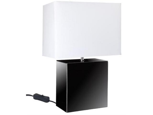 Lampa stołowa Smoked Mirror&Fabric biała max.40W E14 Paulmann
