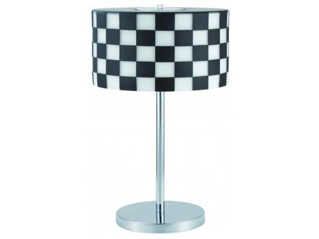 Lampa stołowa Monza 2x15W ESL E27 czarno-biała Paulmann