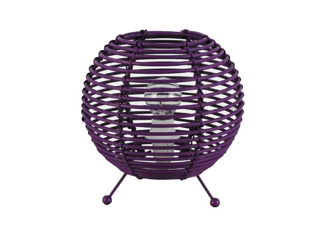 Lampa stołowa Celio 1x40W E14 fioletowa 92850/64 Brilliant