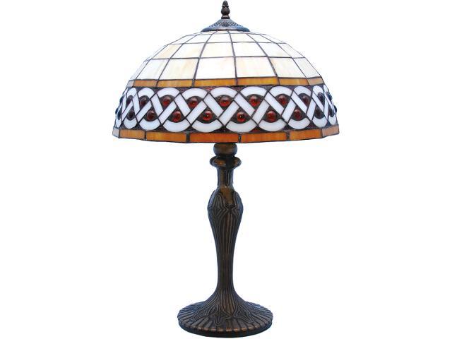 Lampa stołowa witrażowa Sargan 1xE27 60W K-G162208 Kaja