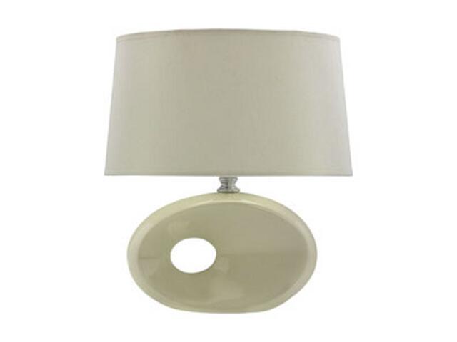 Lampa stołowa ceramiczna OPAL 40W E14 D-2031 biała ANS