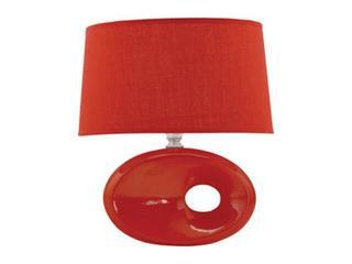 Lampa stołowa ceramiczna OPAL 40W E14 D-2031 czerwona ANS