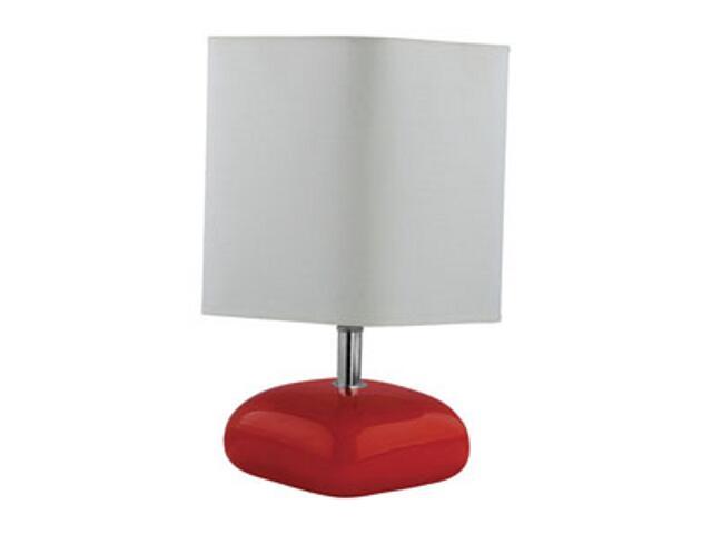 Lampa stołowa ceramiczna KALCYT 60W E27 D-2110 czerwona podstawa ANS