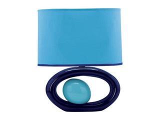 Lampa stołowa ceramiczna PORFIR 40W E14 D-2132 niebieska ANS